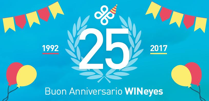 25 anni di WINeyes 🎂 Festeggia con noi