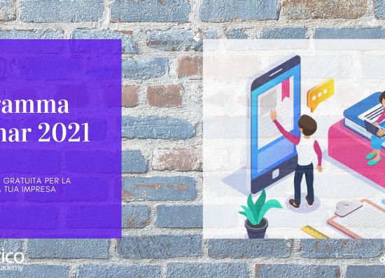 Webinar 2021: La formazione per far crescere la tua impresa